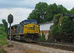 CSX Q616 passing the now overgrown factories at Fowler Junction.